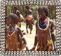 Hamar kids in Omo Valley