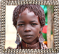 Hamar girl from Omo Valley